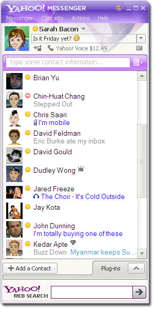 Yahoo! Messenger full screenshot